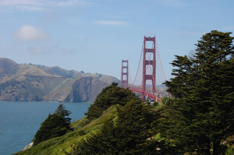 Presidio, Golden Gate Bridge, Marin County