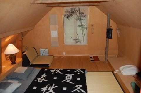 Dachboden japanisches Schlafzimmer