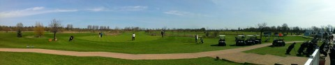 Betrieb auf dem Golfplatz