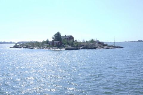 Typische Mini-Insel vor Helsinki