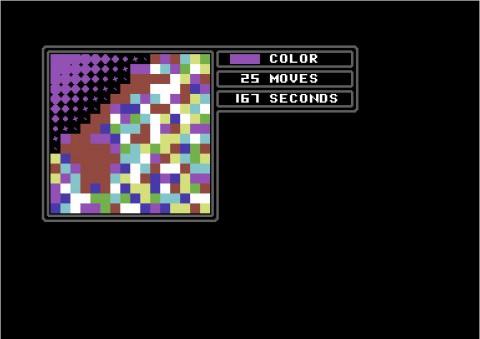 Farbwechsel von Braun zu Violett - Die Welle rauscht vorwärts