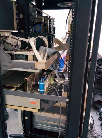 Maschinenbau - das PDP11 Rack von hinten