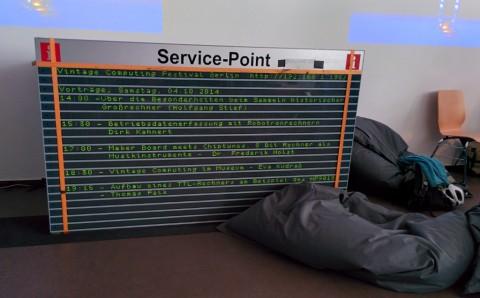Dot-Matrix Display zeigt die Veranstaltungen