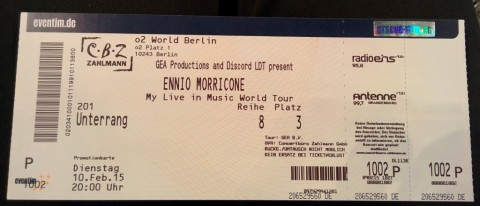 Eintrittskarte - Ennio Morricone