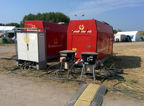 400KVA - zwei von etlichen Dieselgeneratoren