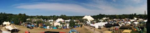 Panorama. Ca. 1/6 des Camp Geländes