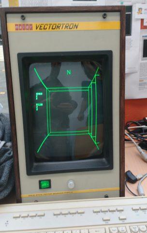 MazeWar auf selbstgebautem Vectordisplay