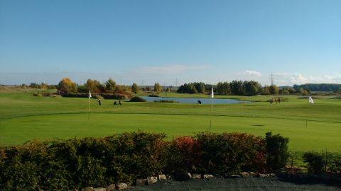 Mittags auf dem Golfplatz