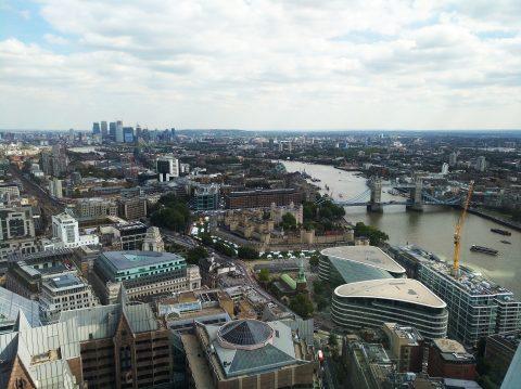Blick über Tower und Themse