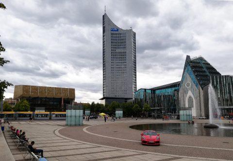 Augustplatz mit Gewandhaus und Universität